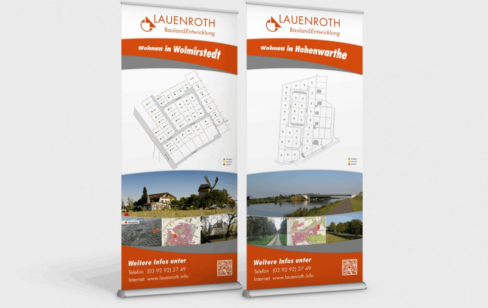 Rollup-Displays für  Lauenroth Baulandentwicklung