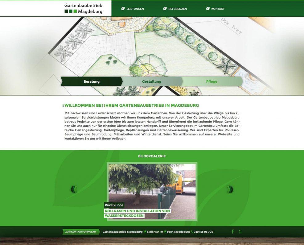 Webdesign und Programmierung für  Gartenbaubetrieb Magdeburg, Dennis Borrmann