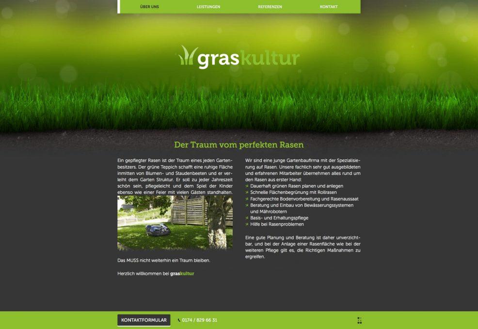 Webdesign und Programmierung für  graskultur