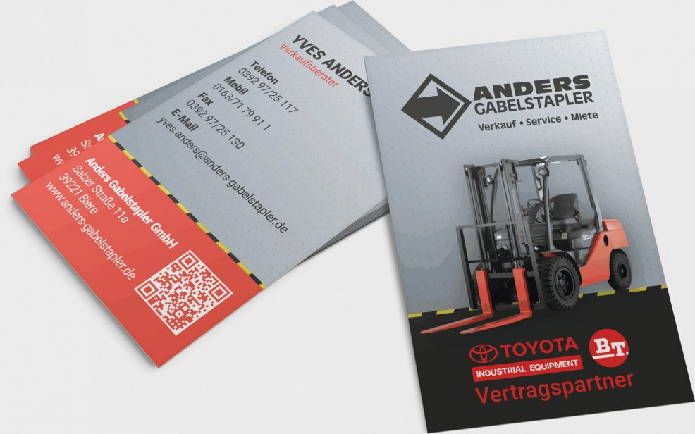 Visitenkarten für  Anders Gabelstapler GmbH