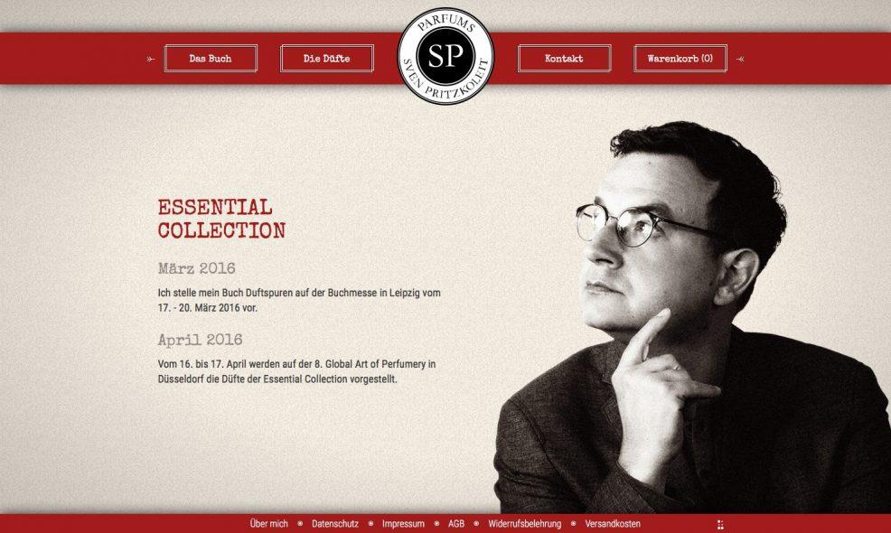 Webdesign und Programmierung für  SP Parfums – Sven Pritzkoleit