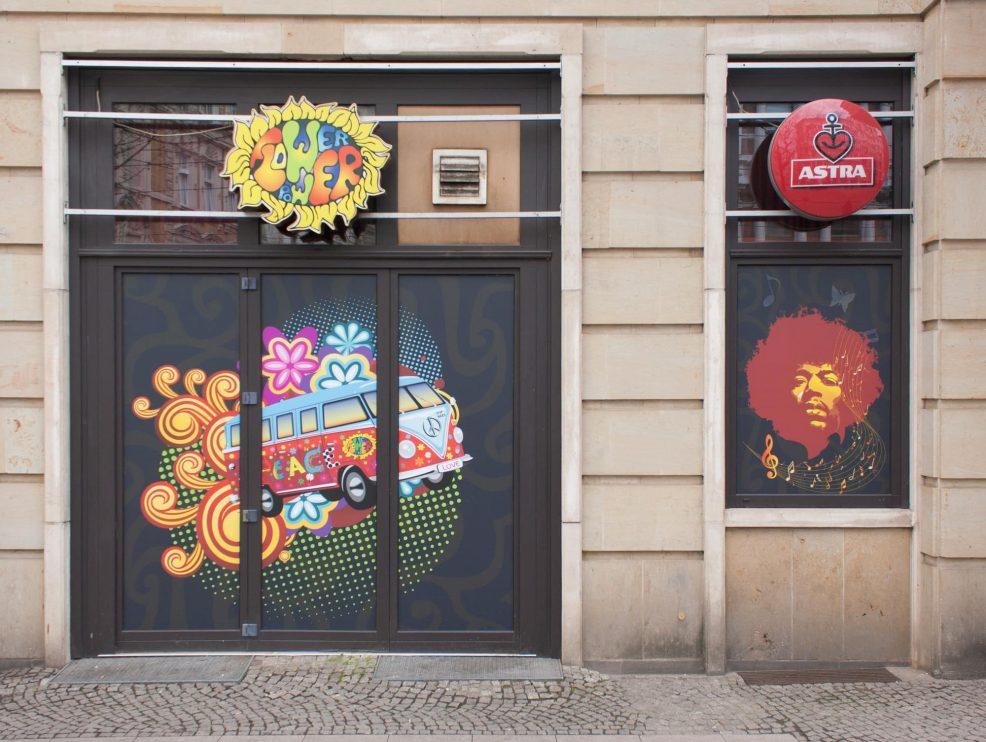 Fensterbeschriftung für  Flowerpower Magdeburg