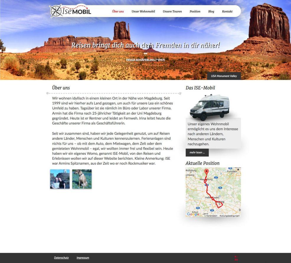 Webdesign und Programmierung für  ISE-Mobil