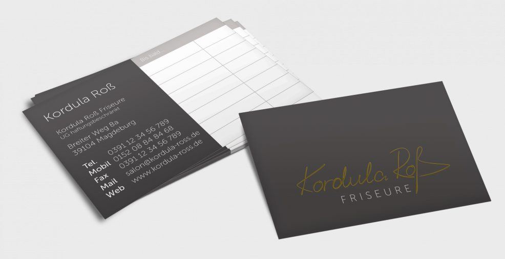 Visitenkarten für  Kordula Roß Friseure