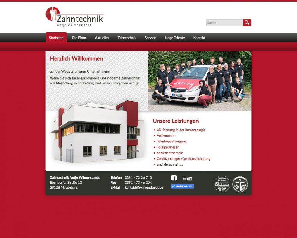 Website Relaunch für  Zahntechnik Antje Wilmerstaedt