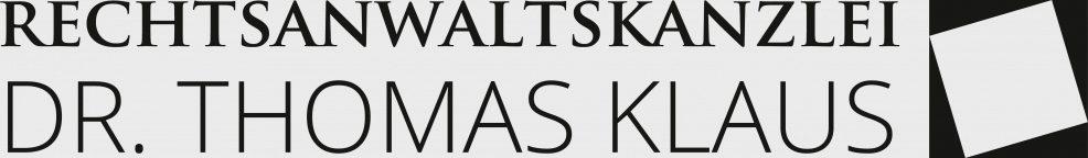 Logoentwicklung für  Rechtsanwaltskanzlei Dr. Thomas Klaus