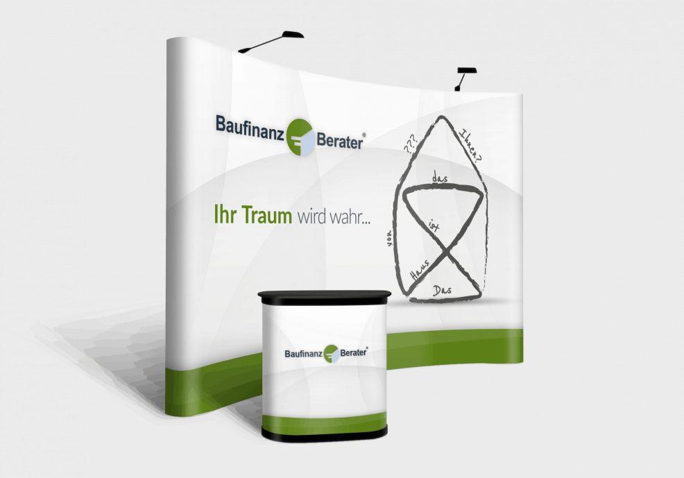 Popup-Wall für  Baufinanz-Team GmbH