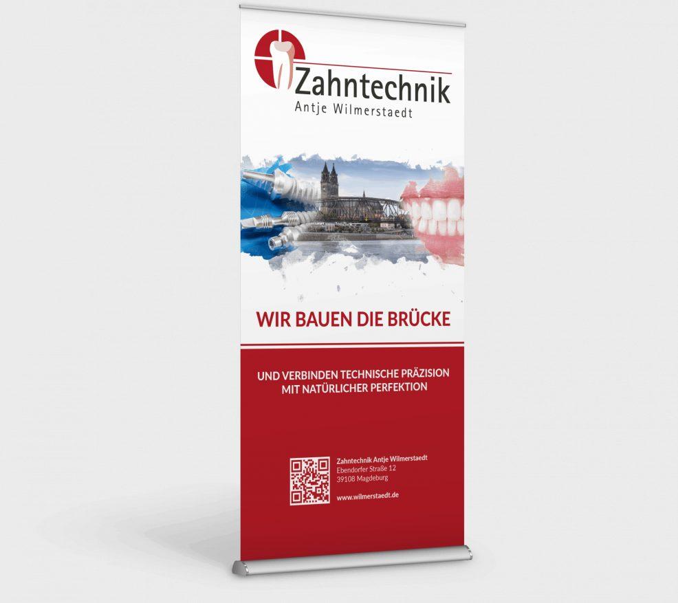 Rollup-Display für  Zahntechnik Antje Wilmerstaedt