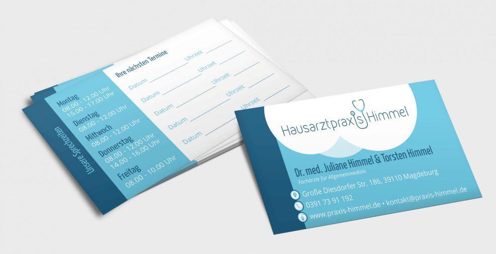 Visitenkarten für  Hausarztpraxis Himmel