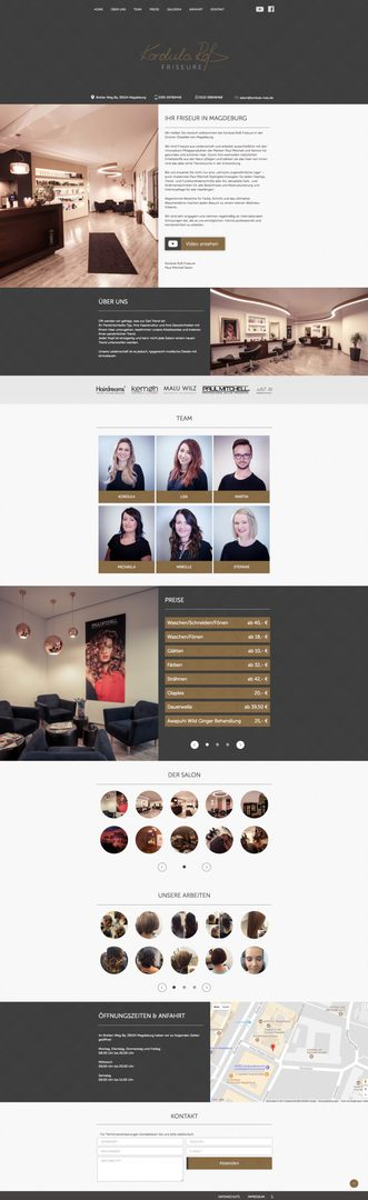 Webdesign + Programmierung für  Kordula Roß Friseure