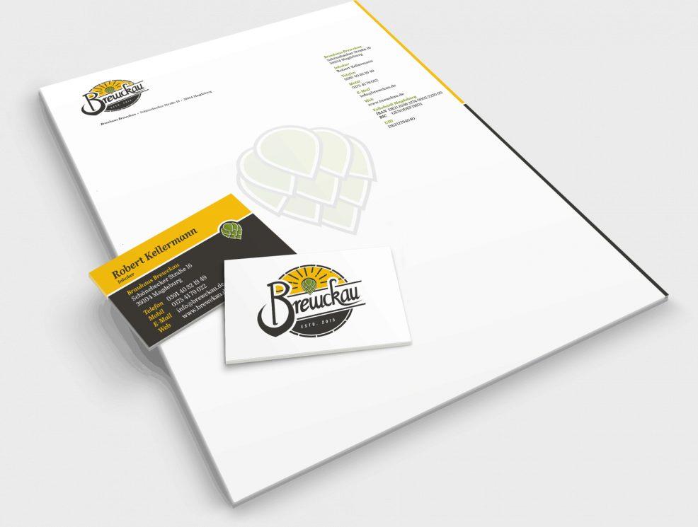 Briefbogen + Visitenkarte für  Brewckau