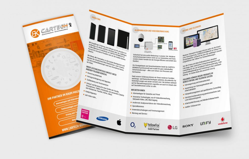 Flyer für  Cartech D. Bombach GmbH & Co. KG