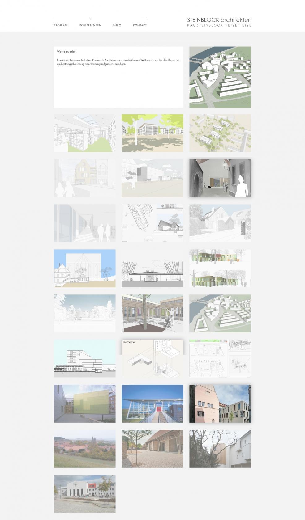 Webdesign + Programmierung für  Steinblock Architekten GmbH