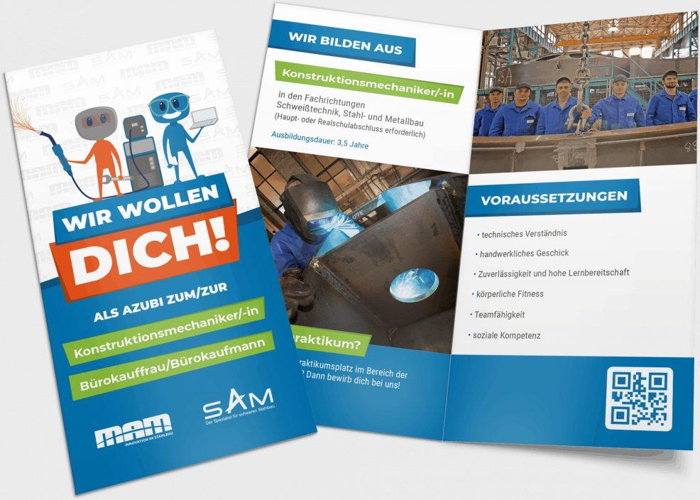 Faltblatt für  Maschinen- und Anlagenbau Magdeburg GmbH