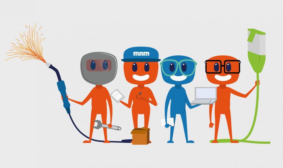 Illustrationen (Maskottchen) für  Maschinen- und Anlagenbau Magdeburg GmbH