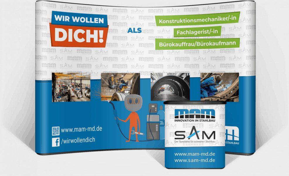 Popup-Wall für  Maschinen- und Anlagenbau Magdeburg GmbH