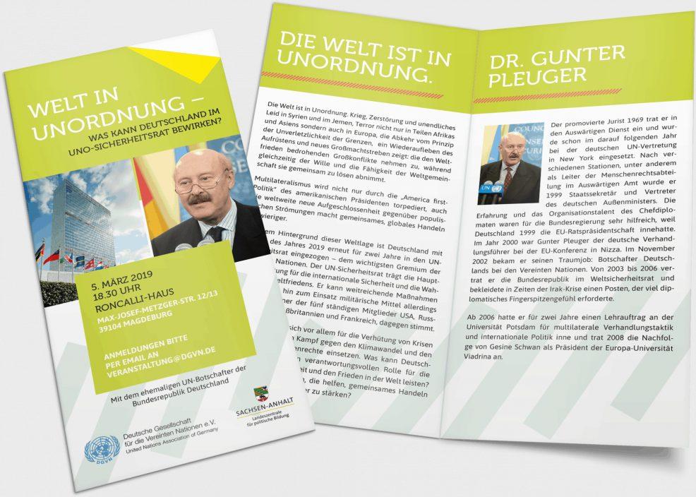 Flyer für  Landeszentrale für politische Bildung Sachsen-Anhalt