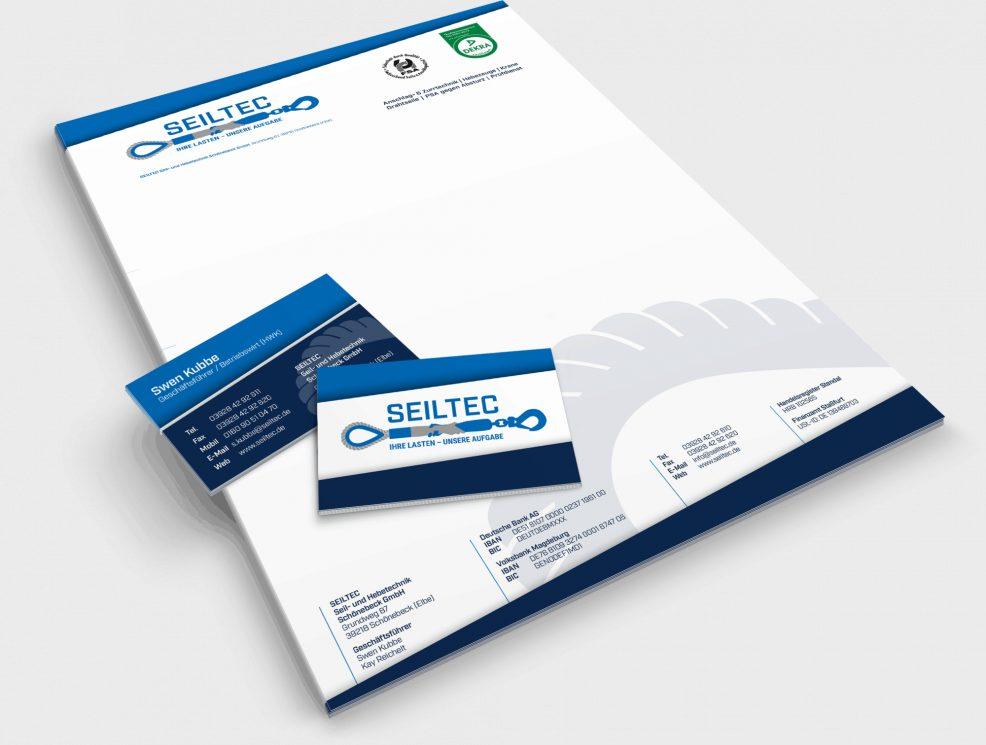 Briefbogen+Visitenkarten SEILTEC