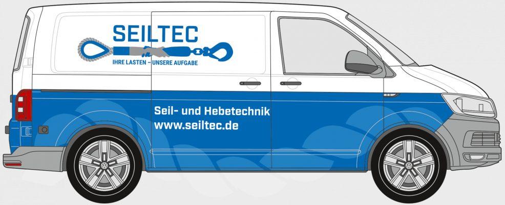 Fahrzeugbeschriftung für  SEILTEC Seil- und Hebetechnik Schönebeck GmbH