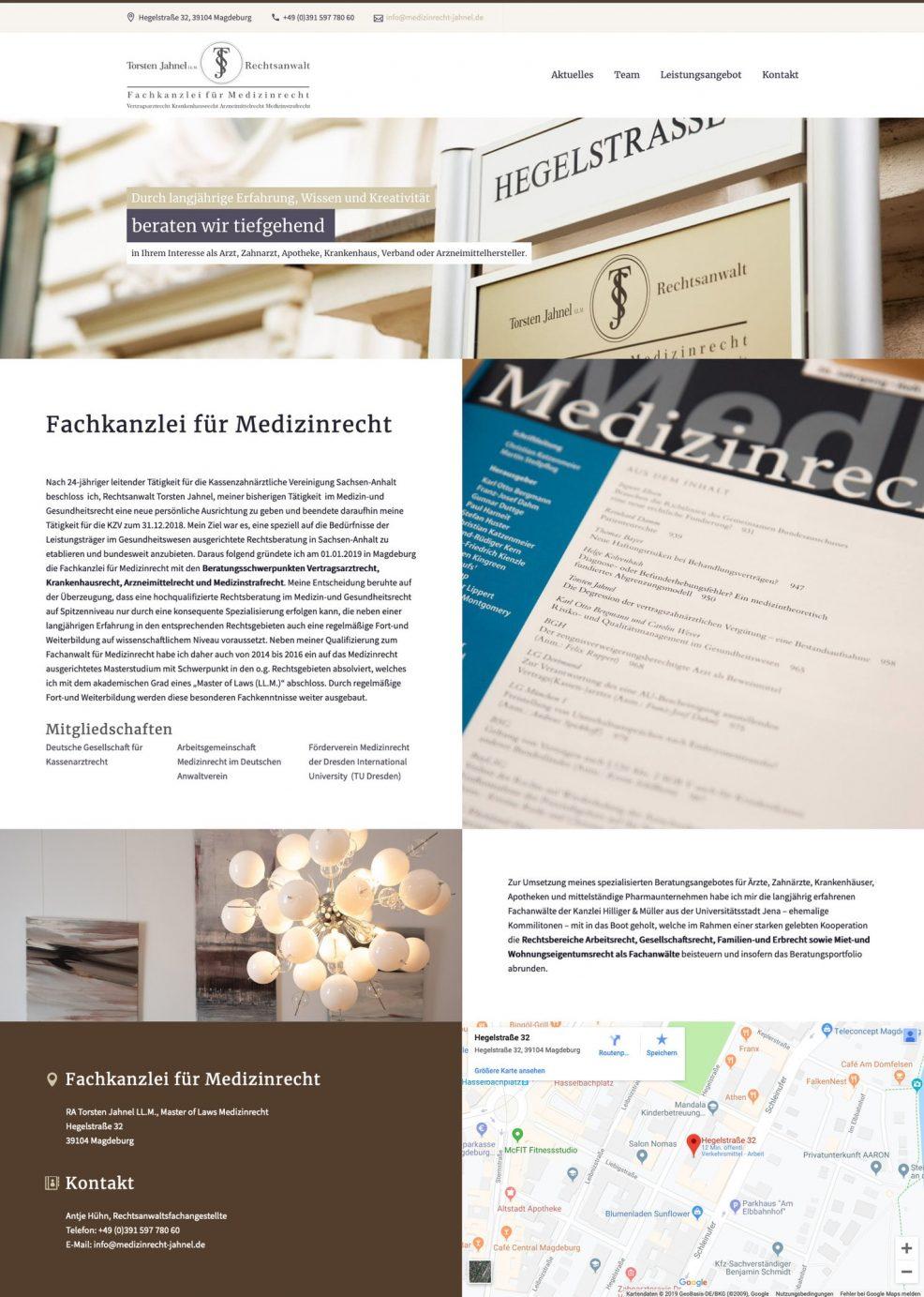 Webdesign und Programmierung für  Rechtsanwalt Torsten Jahnel