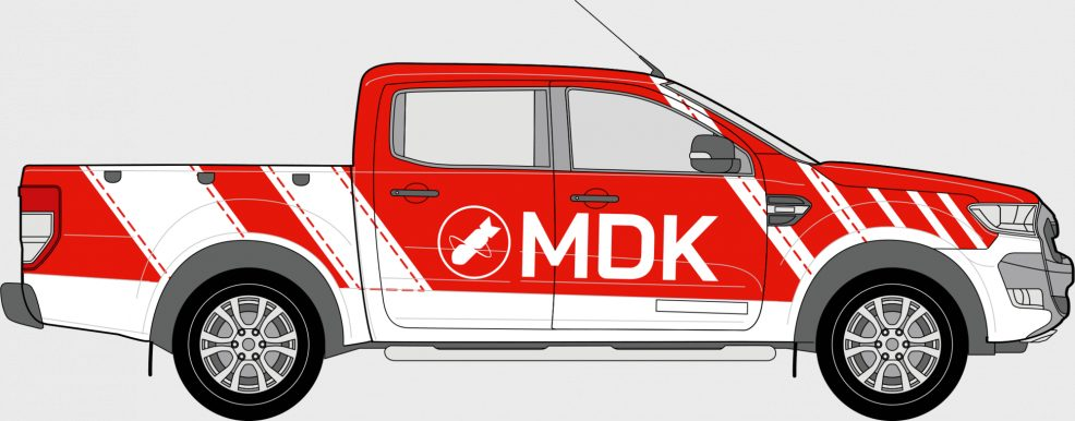 KFZ-Beschriftung für  MDK Mitteldeutsche Kampfmittelräumung Nickel & Hädicke GmbH
