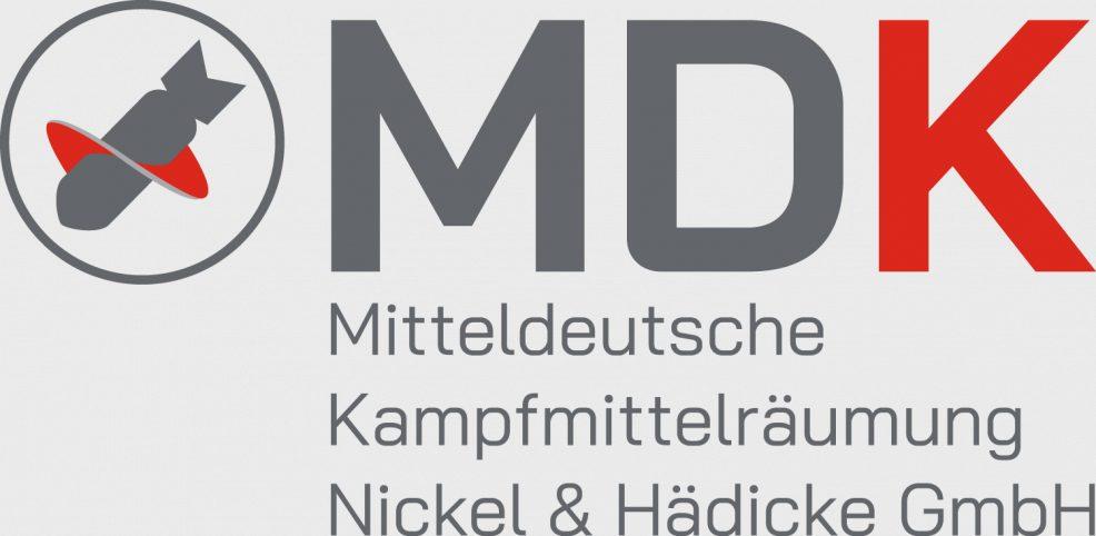 Logoentwicklung für  MDK Mitteldeutsche Kampfmittelräumung Nickel & Hädicke GmbH