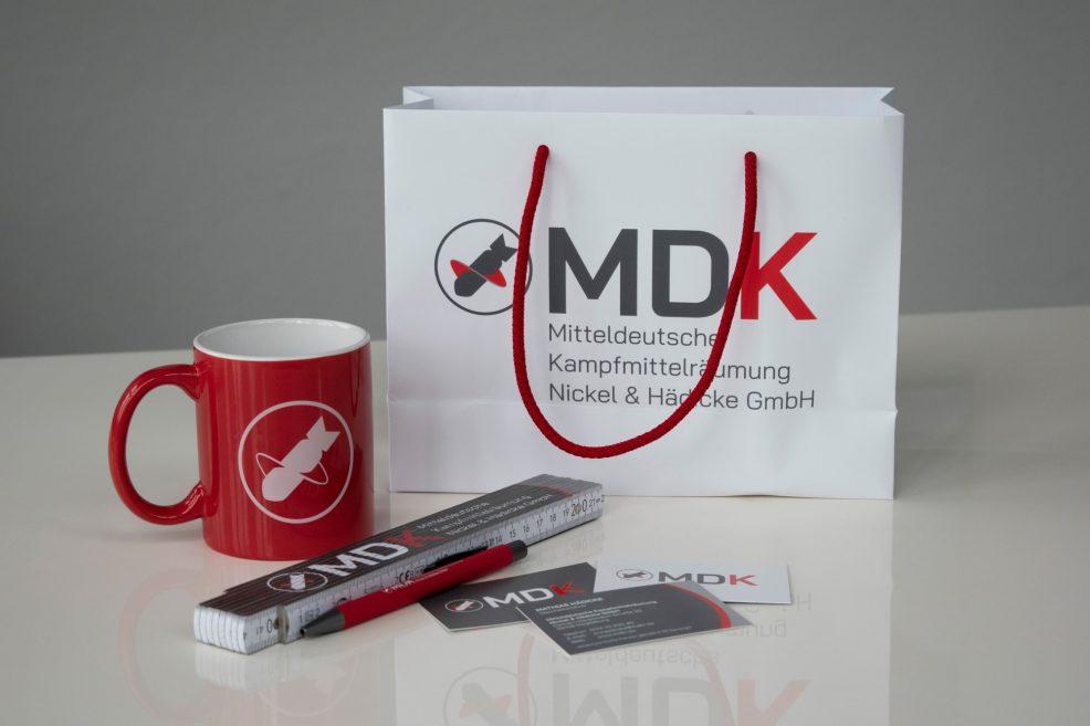Werbeartikel für  MDK Mitteldeutsche Kampfmittelräumung Nickel & Hädicke GmbH