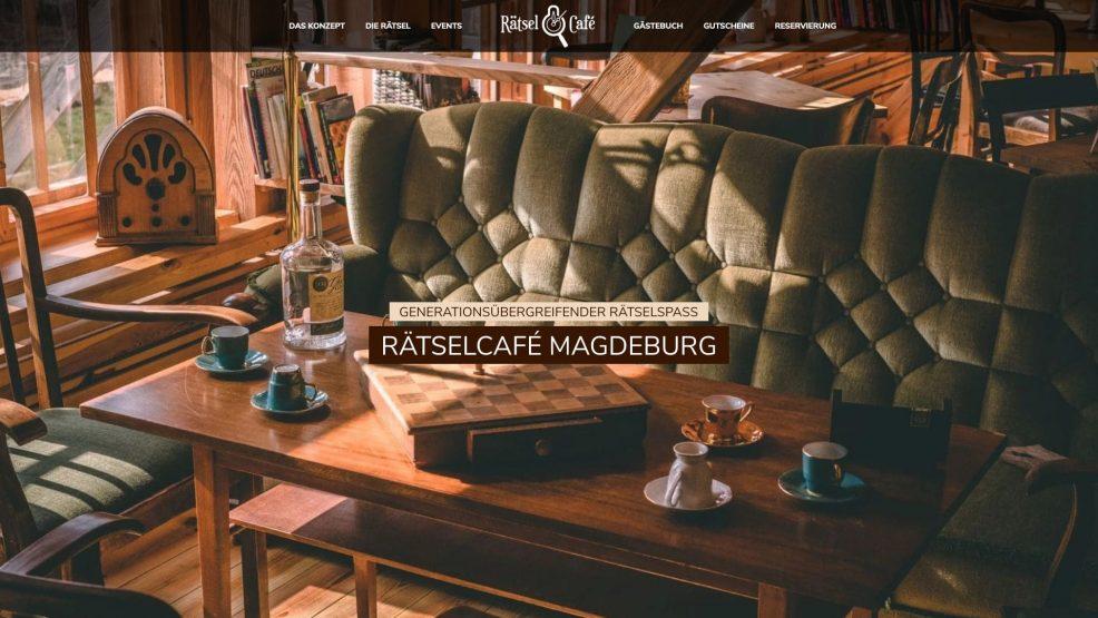 Website für  RätselCafé Magdeburg