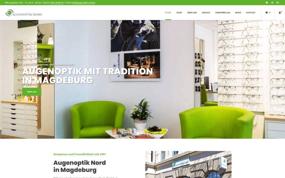 Website und Webshop für  Augenoptik Nord