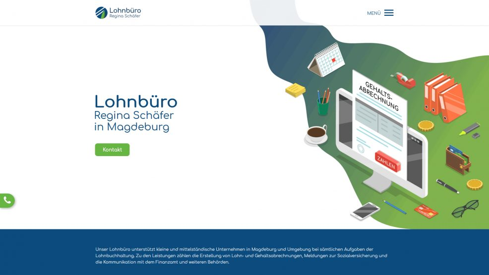 Webdesign und Programmierung für  Lohnbüro Regina Schäfer