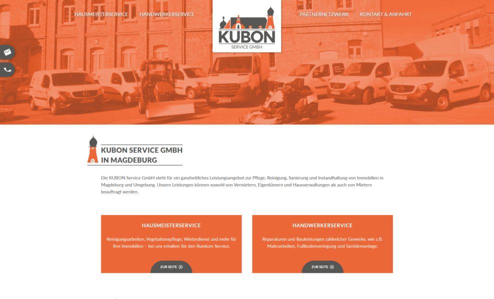 Webdesign und Programmierung für  KUBON Service GmbH