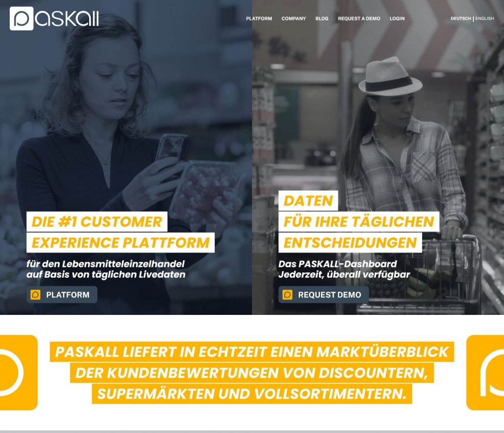 Webdesign und Programmierung für Customer Experience Plattform der IWD market research GmbH