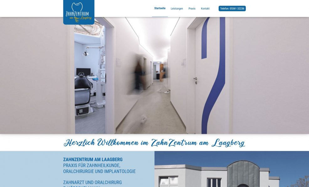 Webdesign und Programmierung für  Zahnzentrum am Laagberg