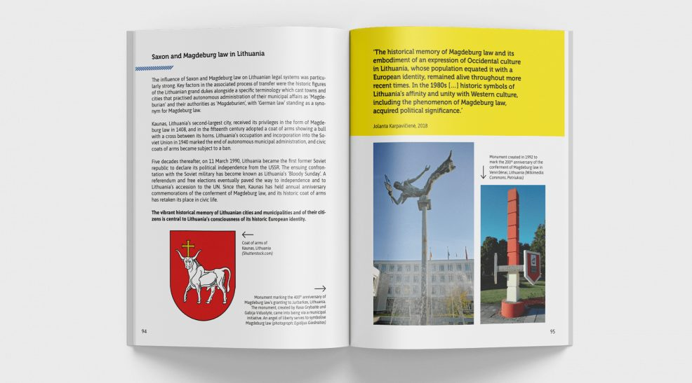 """""""Benutzt und gefeiert"""" Broschüre zum Magdeburger Recht für  Landeszentrale für politische Bildung Sachsen-Anhalt"""
