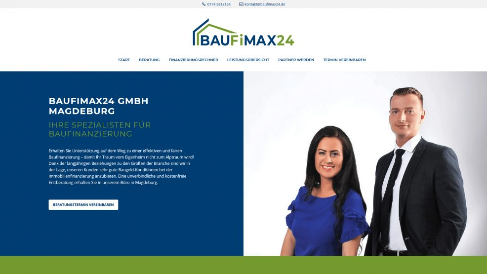 Webdesign und Programmierung für  BAUFiMAX24 GmbH