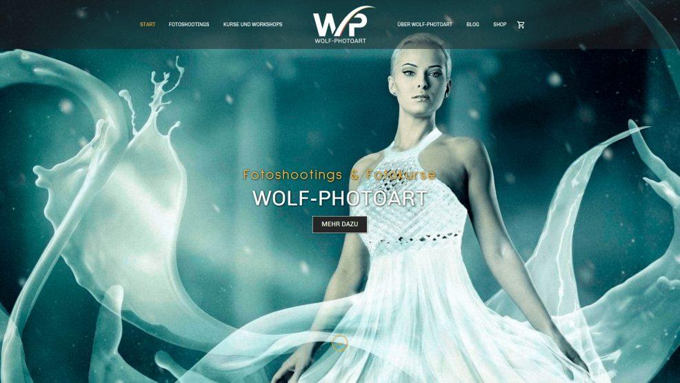 Website und Webshop für  Wolf-Photoart