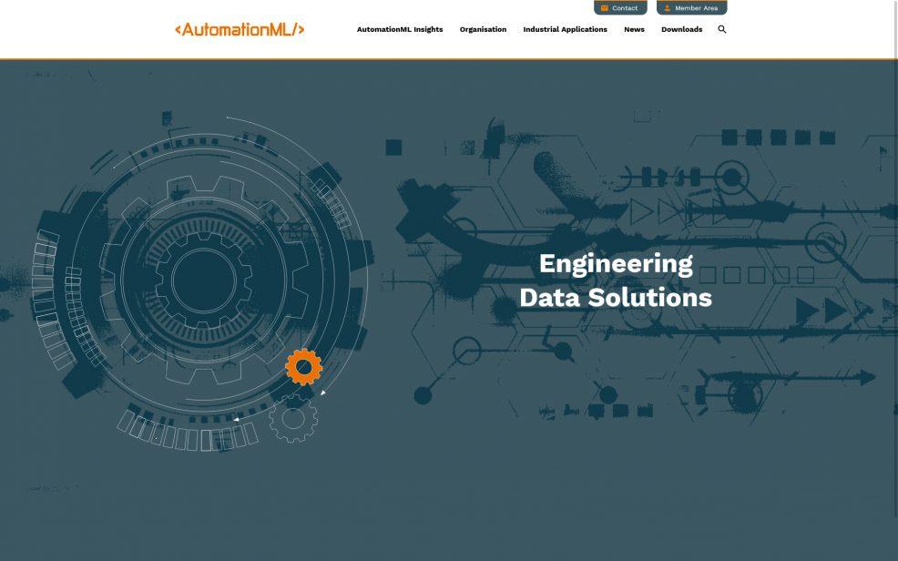 Webdesign und Programmierung für  AutomationML e.V